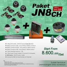 PACKAGE JN8CH DVR 8 Channel HDD JUAN EFFIO Gen-02 at cheap prices