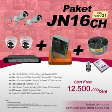 PAKET JN16CH DVR JUAN 16 CH HDD HDIS Series Gen-01 Murah Plus Pemasangan