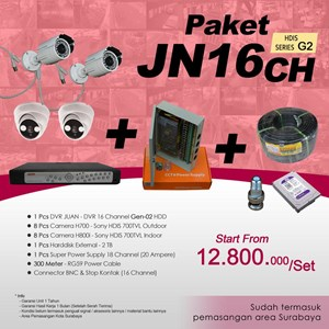 Dari PAKET JN16CH DVR JUAN 16 CH HDD HDIS Series Gen-02 Murah Plus Pemasangan 0