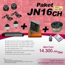 PAKET JN16CH DVR JUAN 16 Channel HDD EFFIO Gen-01 Harga Murah