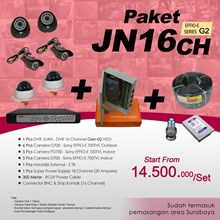 PACKAGE DVR 16 Channel JUAN JN16CH HDD EFFIO Gen-02 at cheap prices