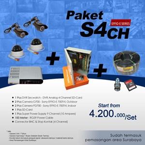 Dari PAKET S4CH DVR 4 CH SDCard EFFIO Harga terMurah 0