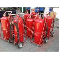 Distributor Troli/Carry Wheel/Mobile Unit Alat Pemadam Api Kebakaran Berat/Apab Cap. 25/ 35/ 45/ 50/ 60/ 75/ 80 Kg Abc Drychemical Powder 3