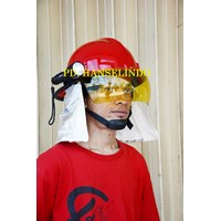 Jual HELM PMK + SENTER KEPALA FLASHLIGHT HELM SAFETY SATU SET MURAH 2