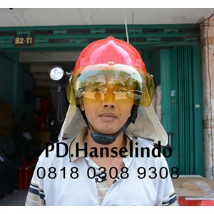 HELM PMK + SENTER KEPALA FLASHLIGHT HELM SAFETY SATU SET MURAH