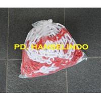 Jual RANTAI PLASTIK (PLASTIC CHAIN) PEMBATAS AREA JALAN HARGA MURAH 2