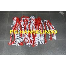 RANTAI PLASTIK (PLASTIC CHAIN) PEMBATAS AREA JALAN HARGA MURAH