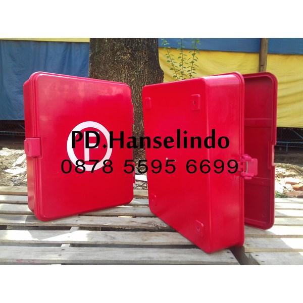 FIRE HOSE BOX KOTAK SELANG PEMADAM BARU BAHAN FIBER HARGA MURAH