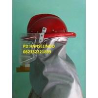 Helm Safety Pemadam Kebakaran Plastik Tahan Api