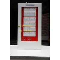 FIRE ALARM ANNOUNCIATOR CONTROL PANEL 30 ZONE BAHAN ABS MURAH BERMUTU