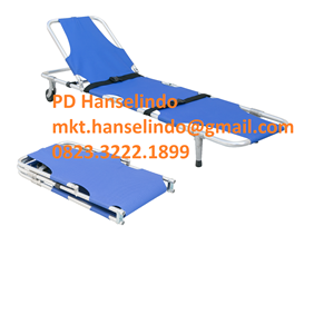 TANDU MEDIS FOLDING STRETCHER WITH CASTOR BACK ADJUSTABLE TYPE RC-F9 RONG CHANG