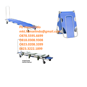 TANDU MEDIS FOLDING STRETCHER (WITH PULL ROD WITH OMNI-DIRECTIONAL - TYPE RC-F10 [RONG CHANG]