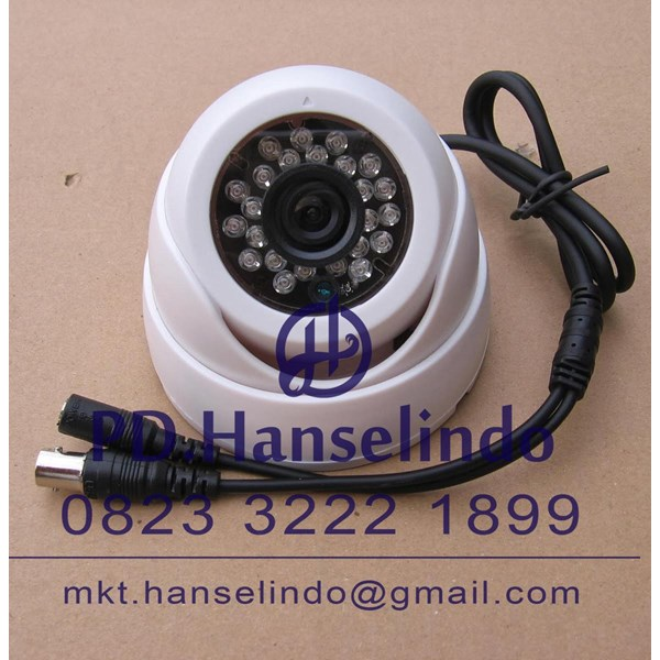 Kamera CCTV White Indoor Dome Plastic Model Keong HDIS Korean Chipset HT 700TVL