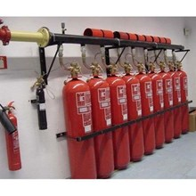 Installation of fire building fire protection system sprinkler fm200 hydrant