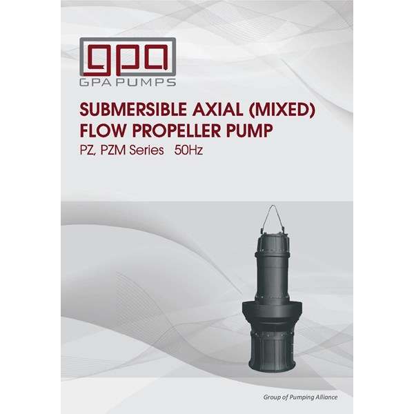 Pompa Submersible axial dan mixed flow GPA PZseries
