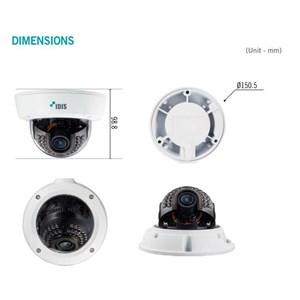 Dari Cctv Dome Idis Tc-D1222wr Hd-Tvi Full Hd Wdr Vandal-Resistant Ir Dome Camera 1