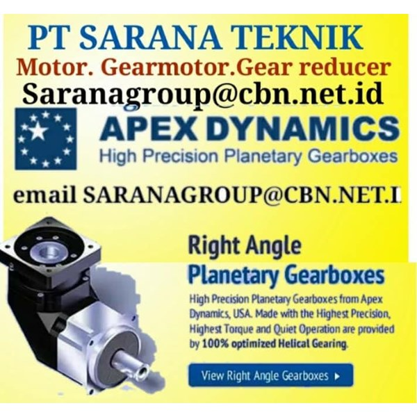 APEX DYNAMICS PT SARANA TEKNIK High Precision Planetary Gearboxes