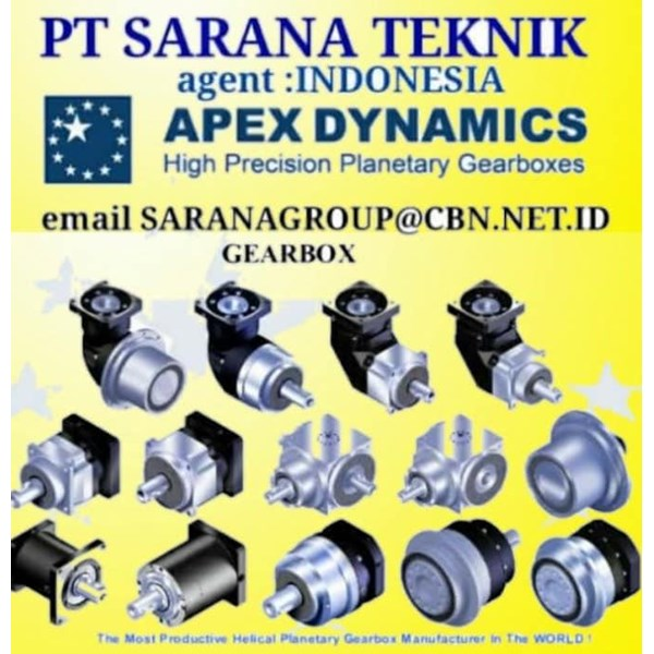 Gear Planetary Apex Dynamics PT SARANA TEKNIK MOTOR
