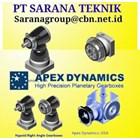 agen HIGH PRECISION APEX DYNAMICS planetary   PT SARANA TEKNIK 1