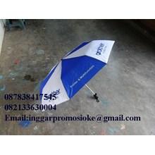 Payung lipat tiga sablon logo