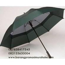 Promotional golf umbrella order stacking fiber color green