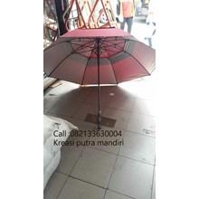 Payung golf susun fiber merah marun 03