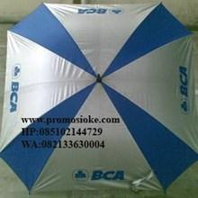 Payung golf kotak biru putih
