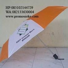 Payung lipat putih orange