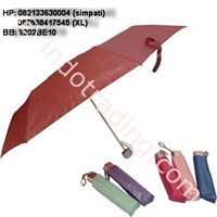 Payung Lipat 2 Sarung Merah Marun 1