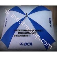 Payung Golf Kotak Biru Bca Rangka Hitam