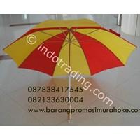 Payung Golf Ruji Putih Gagang Kayu 1