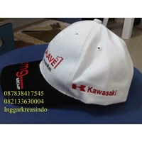 Topi promosi bahan rafel logo kawasaki 1