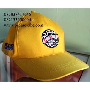 Bordir topi bahan rafel logo perusahaan