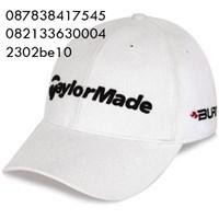 Topi bordir bahan rafel promosi 1