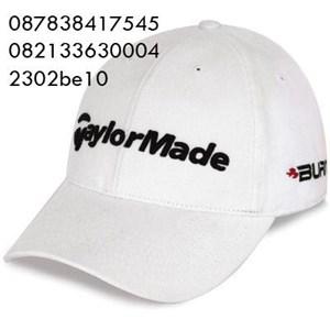 Topi bordir bahan rafel promosi