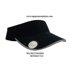 Topi golf promosi warna hitam.