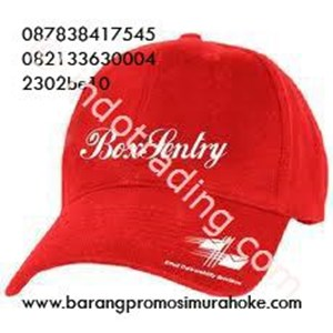 Topi Merah Drill Promosi
