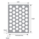 Perforated Mesh Standard Pattern