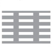 Perforated Mesh Straight Line Rectangular