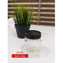 Toples Kotak 200ml tutup hitam