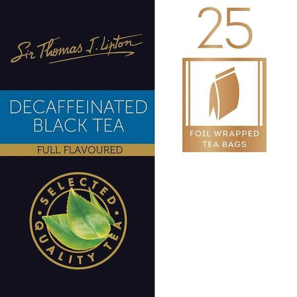 Teh Lipton Decaffeinated Black Tea
