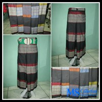 Celana Sarung Al-Jordan [ Hitam Motif ]  1