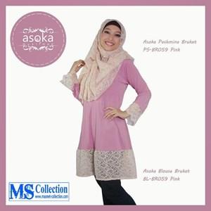Asoka Blouse Brukat [ Bl-Br059 Pink ]