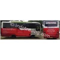 Eksterior Bus Aplikasi Iklan