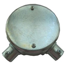 Circular Surface box 2 way-steel ( angle)