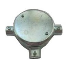 Circular Surface Box 3 Way-Steel