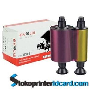 Pita Ribbon Color YMCKO Evolis Pebble 4 Part Number : R3011