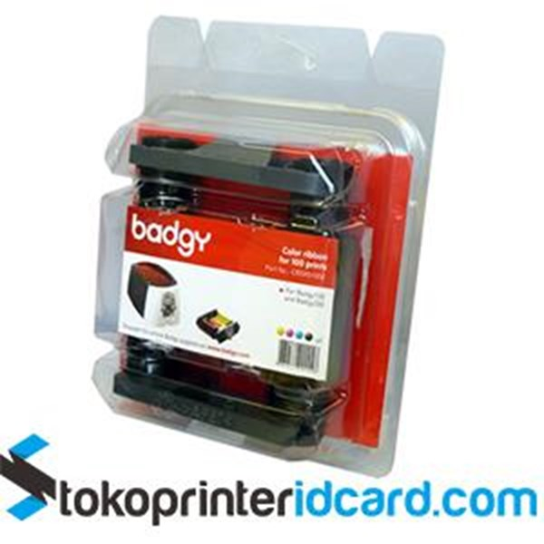 Ribbon Color YMCKO Evolis Badgy - CBGP0100C