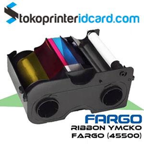 Cartridge Printer Ribbon YMCKO Fargo DTC1250e