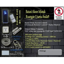 Paket Access Control Pintu UR10-EM & Exit Button